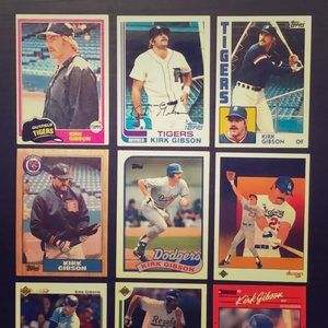 Kirk Gibson Baseball Card Lot (9) *NM Rookie Card*